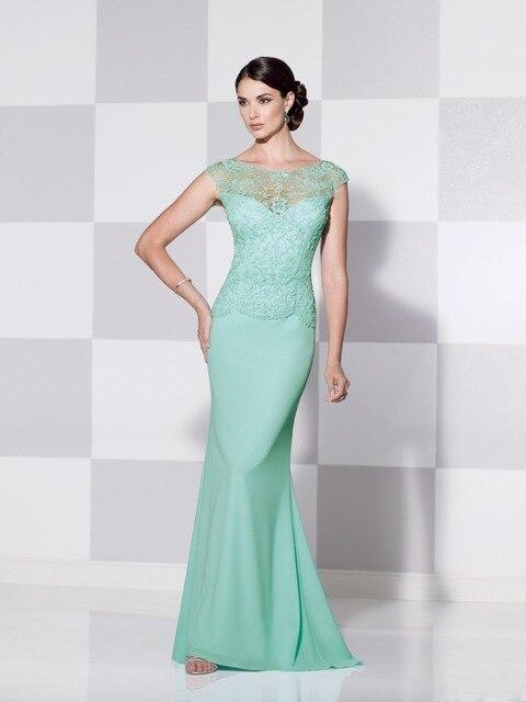 2015 Elegant Mint green Lace Mother Of The Bride Groom Dresses Short ...