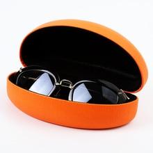 цена на Women Men Travel Hard Spectacle Case Sunglasses Box Eyeglass Orange Spectacles Protector Case Storage Organizer