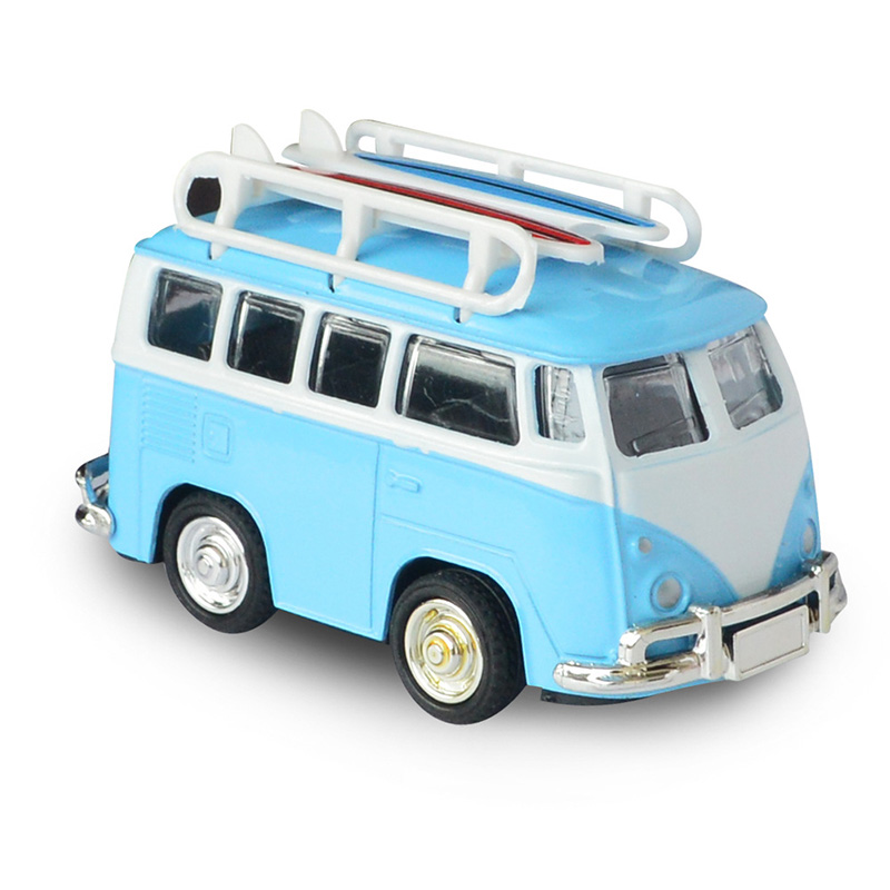 Mini Alloy Car Models Toy for VW Van Bus Retro Paint T1 Classic Surfing Bus Diecast Model Childrens Toy Car for Baby Kids Gift