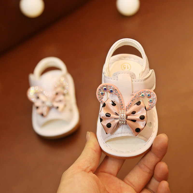 Sandals For Infant Baby Girls Summer Shoes Breathable Anti-Slip Cartoon Pattern Shoes Sandals Toddler Soft Soled