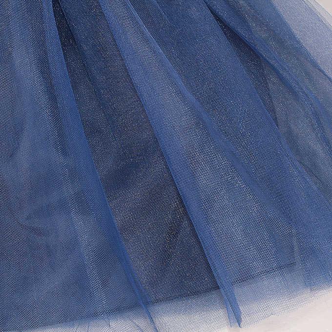 ใหม่สีฟ้าเจ้าหญิงสาวชุดดอกไม้ Sequined Tutu ชุดแต่งงานสไตล์สำหรับคริสต์มาสเสื้อผ้าเด็ก 3-7 ปี