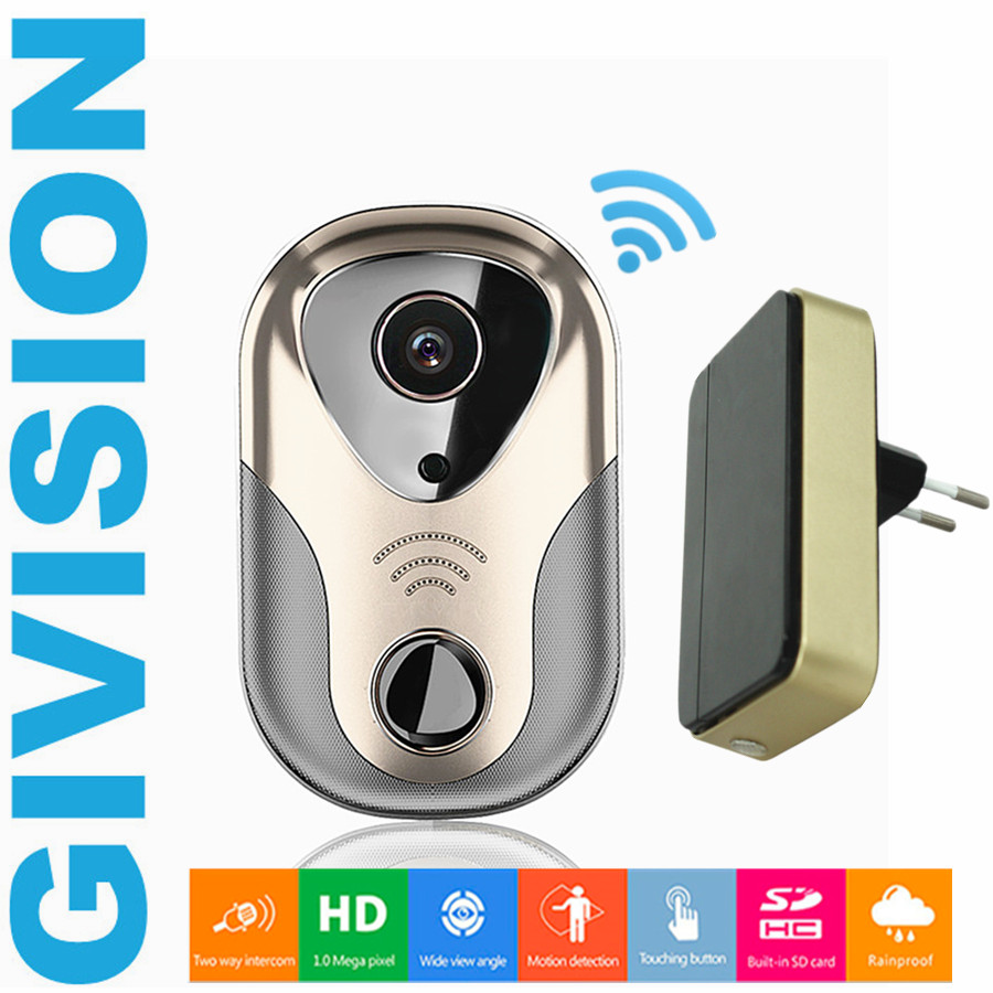 wifi wireless IP video door phone intercom system doorbell video doorphone 720P HD IP Camera IR Night vision SD Card IOS android hd ip wireless video door phone wifi doorbell real time talking photo video free app support ios and android two way intercom
