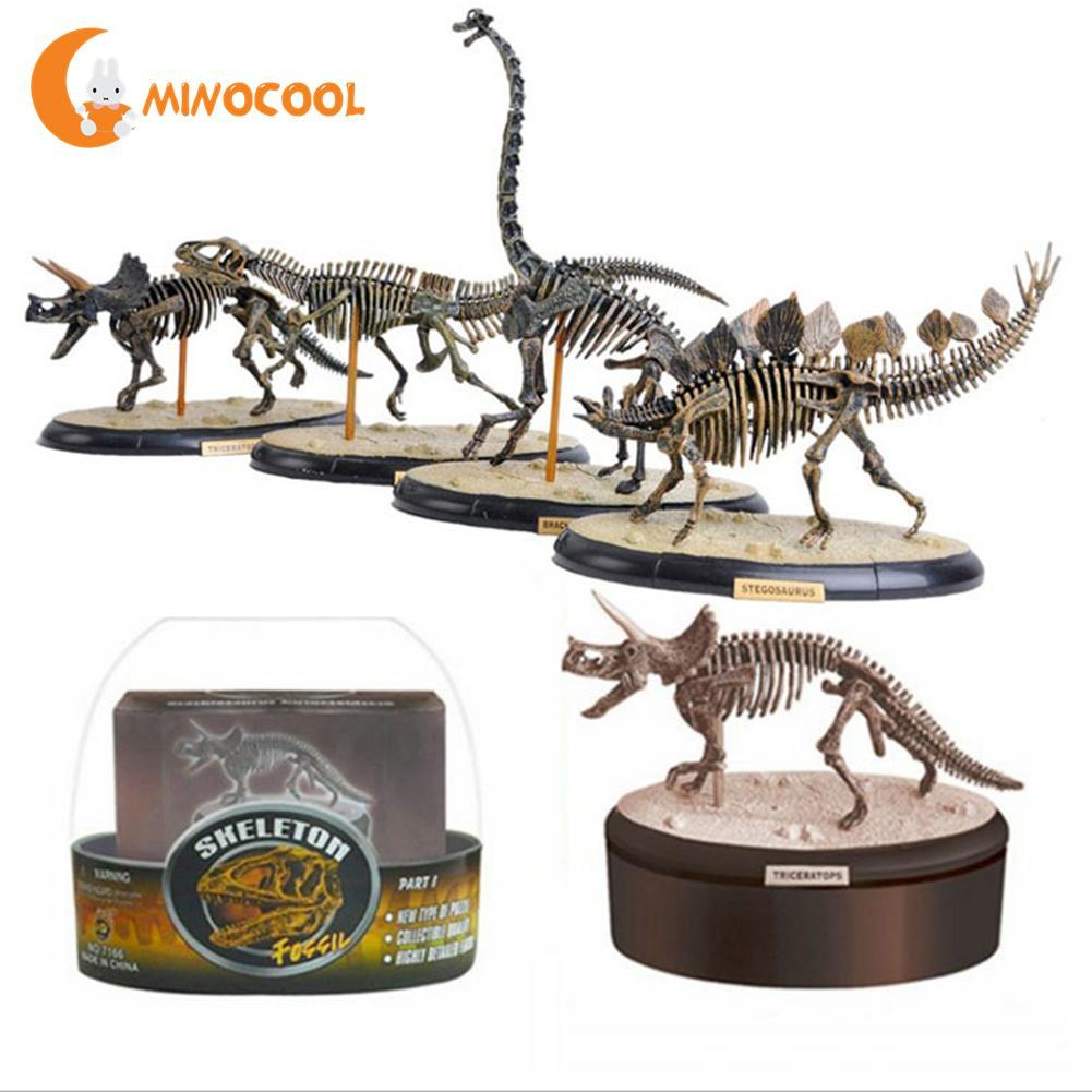 4D Assembling Fossil Skeleton Dinosaur Simulation Animal Model Toys Gifts Children Educational Science Toy cotton spring thomas train children clothes set long sleeve sleepwear pajamas boy sports suit blue tracksuit for 2t 7t kids