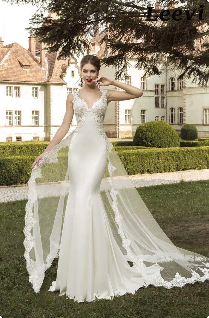3f922c96c Vestidos de novia corte sirena con cola desmontable - Vestidos de ...