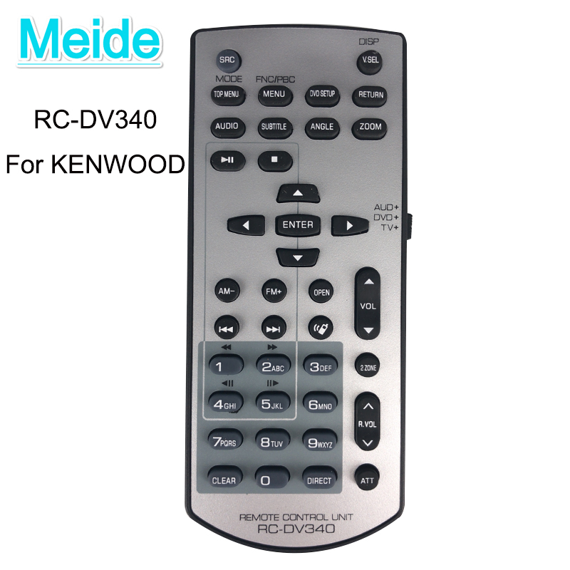 KDC-355U OEM Kenwood Remote Control Originally Shipped with: KDCX598 KDC355U KDC-BT855U KDC-X598 KDCBT855U