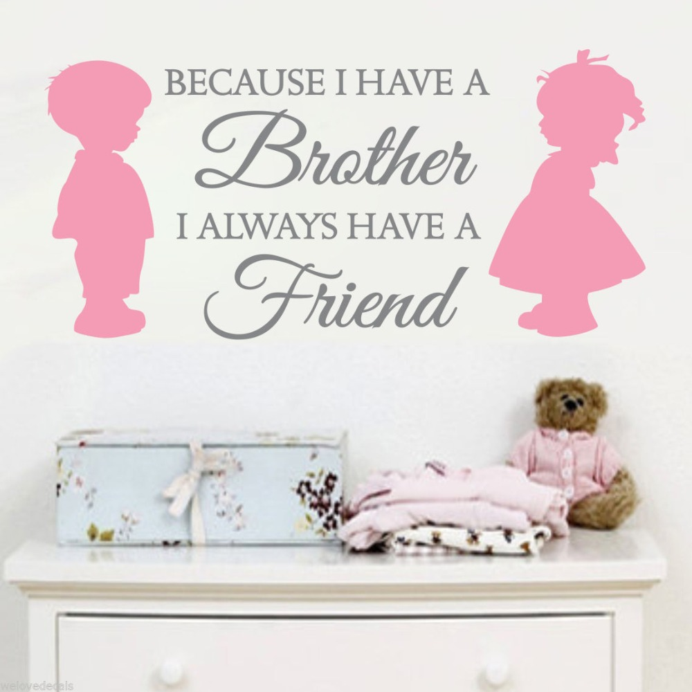 Up 2 Color Brother Sister Love Friends Vinyl Quotes Wall Decals Rhaliexpress: Home Decor Sister At Home Improvement Advice