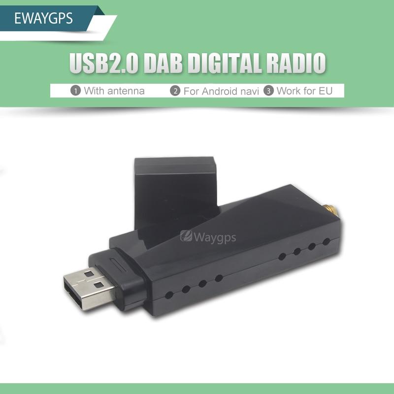 USB 2.0 Digital DAB Radio Tuner Receiver Stick For Android Car DVD Player Autoradio Stereo DAB+ Digital audio broadcasting