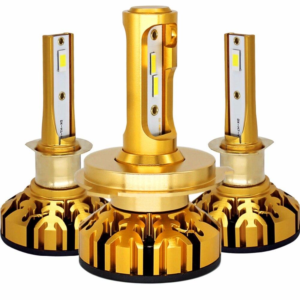 LAIMAIK Mini LED H4 H7 LED Auto Scheinwerfer Kit 50 Watt 10000LM/Set H1 H11 9005 HB3 9006 HB4 H8 Nebellampen 12 V 6000 Karat Auto scheinwerfer