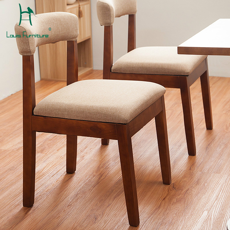 Simple Minimalist Dining Set: Louis Fashion Dining Chairs Modern Simple Contracted Solid