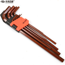 HUAFENG BIG ARROW 9PC Extra Long Hex Key Wrench Set  High Quality S2 Material 1.5mm-10mm Hand Tool Set