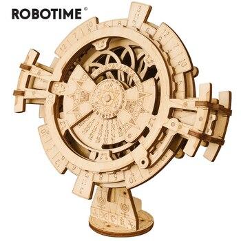 Robotime Kreative DIY Perpetual Kalender Holz Modell Gebäude Kits Montage Spielzeug Geschenk für Kinder Erwachsene Dropshipping LK201