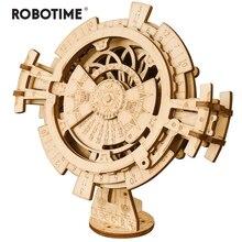 Robotime creativo DIY calendario permanente modelo de madera Kit de construcción montaje de juguete regalo para niños adultos Dropshipping LK201