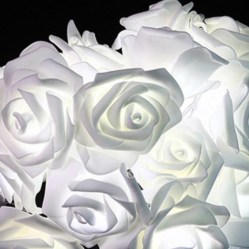 Fashion AC110-240V 5M 20leds Holiday Lighting LED Nyhet 6cm Big Rose - Ferie belysning - Bilde 2