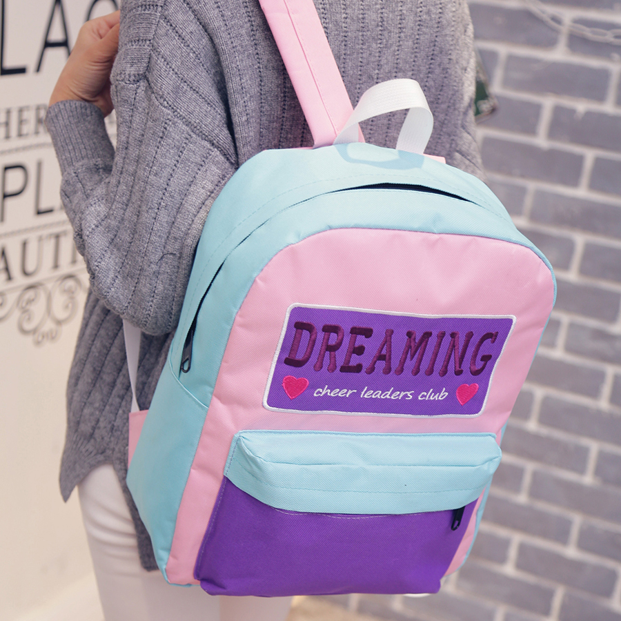 2017 New Fasgion dreaming embroidery cute backpack women preppy style teenage girl school bags student Travel book bag mochila 100 super cute little embroidery chinese embroidery handmade art design book