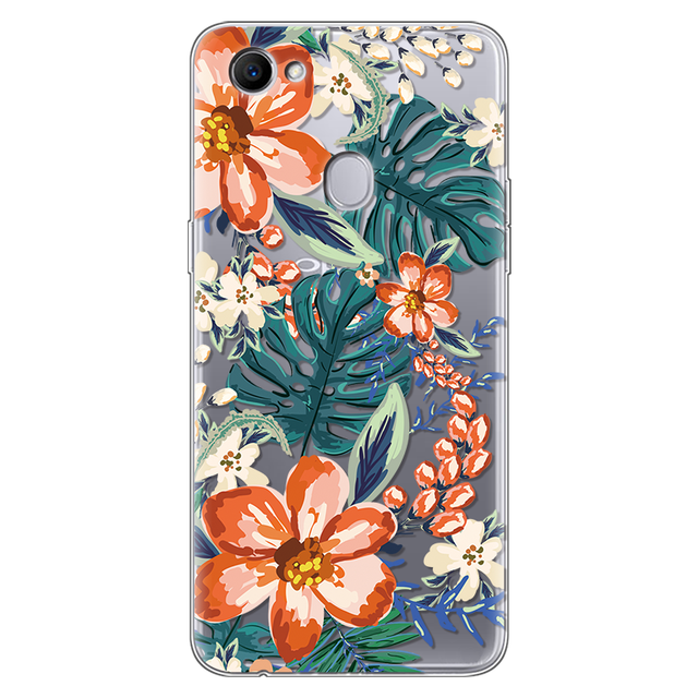 Flowers For OPPO F7 Case Silicone 6.23 4