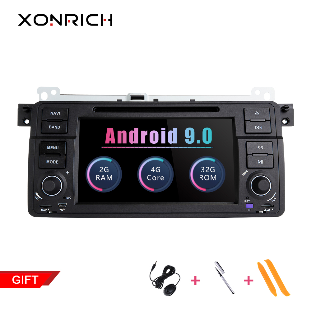 Xonrich 1 Din Android 9.0 Car DVD Player For BMW E46 M3 Rover 75 Coupe Navigation Radio GPS Multimedia 318/320/325/330/335 Audio image