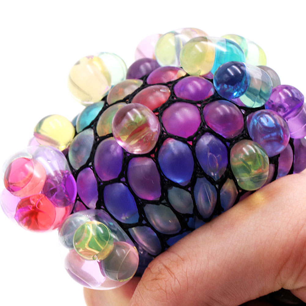 Mesh Ball Cute Anti Stress Face Reliever Grape Ball Autism Mood Squeeze Relief Healthy Toy Geek Gadget Vent Toy
