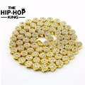 MEN'S 1 ROW  Cluster Chain  ICED OUT YELLOW GOLD PLATED HIP HOP BLING CZ MEN CHAIN NECKLACE JEWELRY