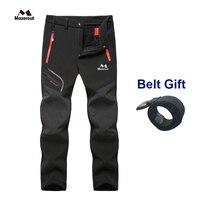 MAZEROUT Camping Trekking Hiking Climbing Skiing Fishing Winter Waterproof Pants Men Fleece Outdoor Soft shell Trouser Sports