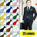 Новый Для мужчин, шеи галстук простой шелковые свадебные Жених вечерние галстук цвет: черный, синий белый красный SH1 - фото