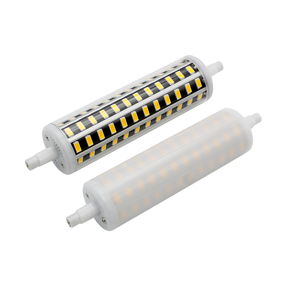 1pcs R7S LED Corn Bulb SMD5730 Dimmable Lamp 78mm 118mm 135mm 189mm 5730 SMD Light 8W 15W 20W 30W AC 85-265V For Floodlight
