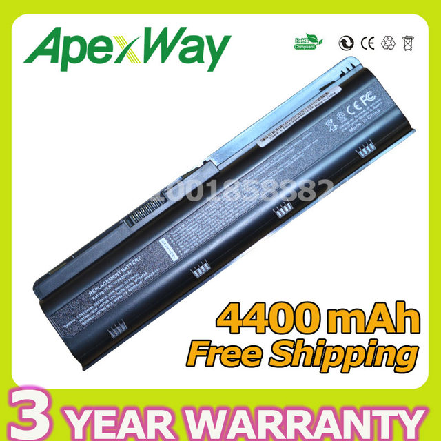 Apexway 4400mAh 6 cell battery for HP DM4 MU06 MU09 CQ32 CQ42 G42 G72 G62 for Pavilion g6s g6t g6x for Presario CQ43 CQ56 CQ62