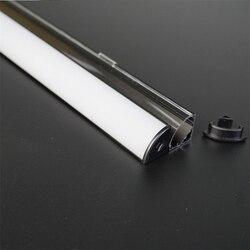 10-40 teile/los 80 zoll 2m schwarz V form 45 grad ecke aluminium profil für 12/24V led streifen, milchig/transparent abdeckung 12mm pcb