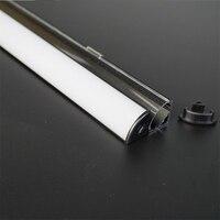 10 40pcs/lot 80 inch 2m black V shape 45 degree corner aluminum profile for 12/24V led strip,milky/transparent cover 12mm pcb