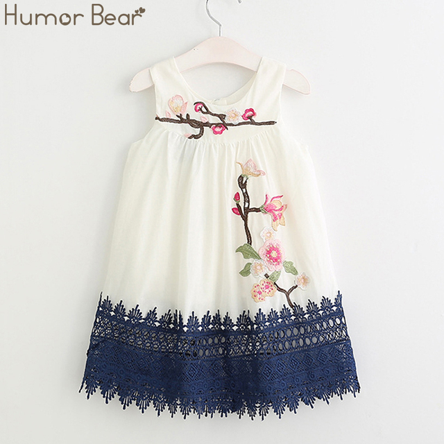 Humor Bear Girls Dresses 2017 Summer Style Girls Clothes Sleeveless