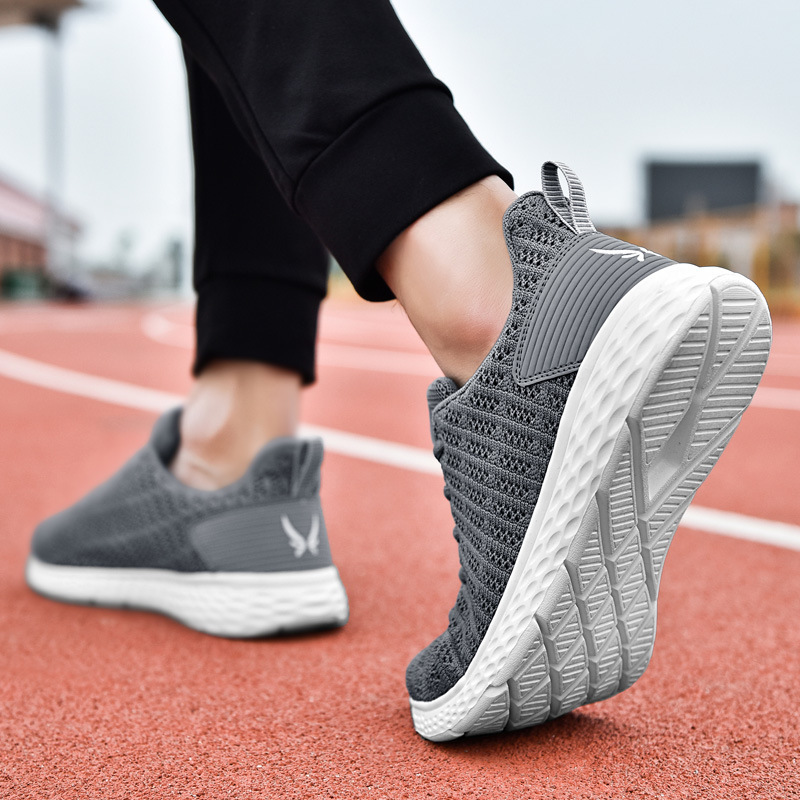 2019 large size sports casual shoes fashion flying woven breathable running outdoor non slip men 39 s shoes in Men 39 s Casual Shoes from Shoes