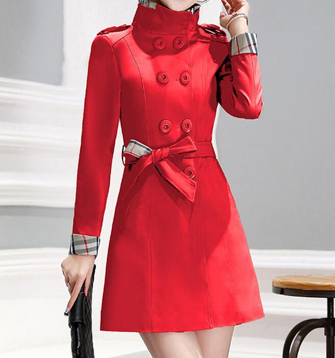 M--4XL HOT  2019 Spring Women New Fashion Accept Waist Big Yards Long Cultivate One's Morality Joker In Fashion Trench Coat