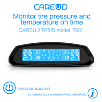 Solar Power Car TPMS Tire Pressure Monitoring System Wireless LCD Display 4 Internal Sensor Real Time