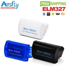 Горячие Мини OBD II ELM327 Bluetooth OBD2 автомобиля диагностический интерфейс читателя Кода Бесплатная доставка