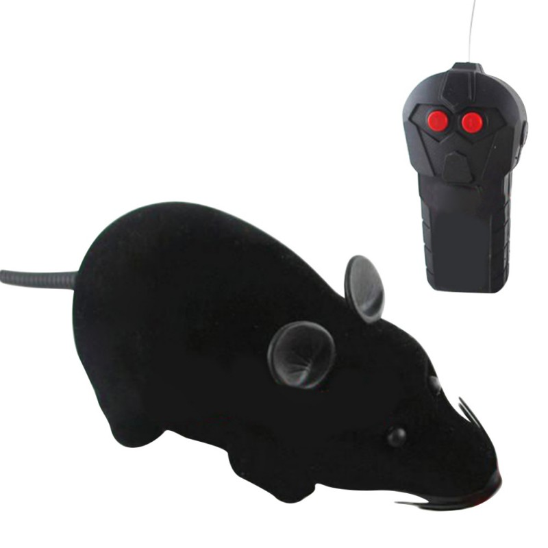 New Interesting Cat Toys Remote Control Wireless Simulation Plush Mouse RC Electronic Rat Mouse Mice Toy For Pet Cat Toy Mouse