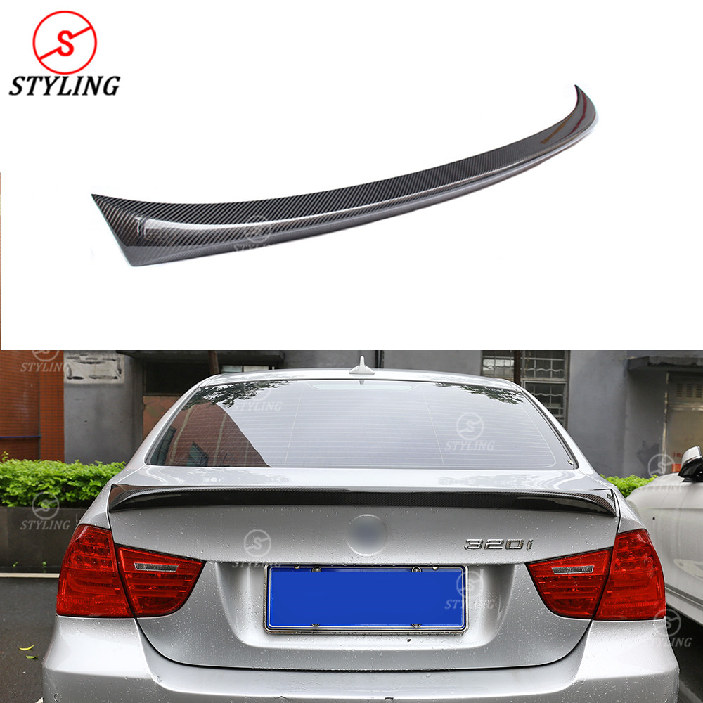 E90 Carbon Spoiler AC Style For BMW Sedan E90 M3 Rear Bumper lip Spoiler trunk wing 2005 2006 2007 2008 2009 2010 2011 image