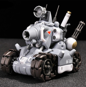 Image 5 - YH Metal Slug Super Voertuig SV 001 tank model beweegbare innerlijke structuur Blauw of Grijs