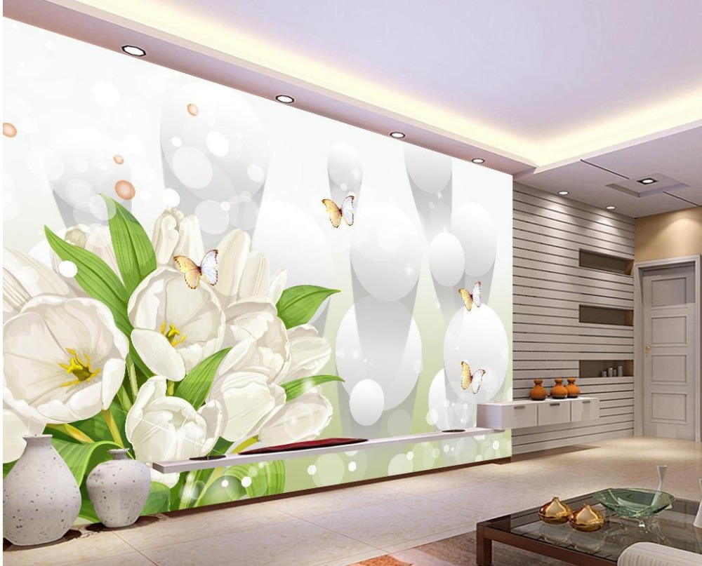 Online get cheap white tulip bouquets for Cheap white wallpaper