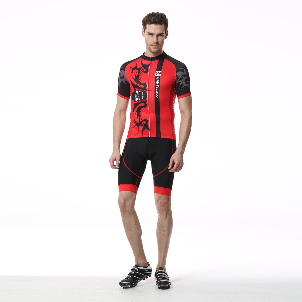 2017 New Summer Men Cycling Sets Anti-sweat Sunscreen Road MTB Bicycle Bike Short Sleeve Jersey Suit Bib Shorts 3D Pad Ciclismo