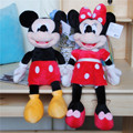 40 cm venta caliente de Alta calidad de nueva Minnie Mickey Mouse de Peluche de Juguete Muñeca de regalo de Navidad 2 unids/lote