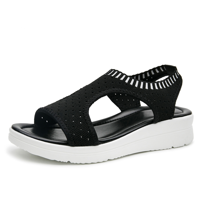 2019 New fashion women sandals summer new platform sandal shoes breathable comfort shopping ladies walking shoes white black 294 big toe sandal
