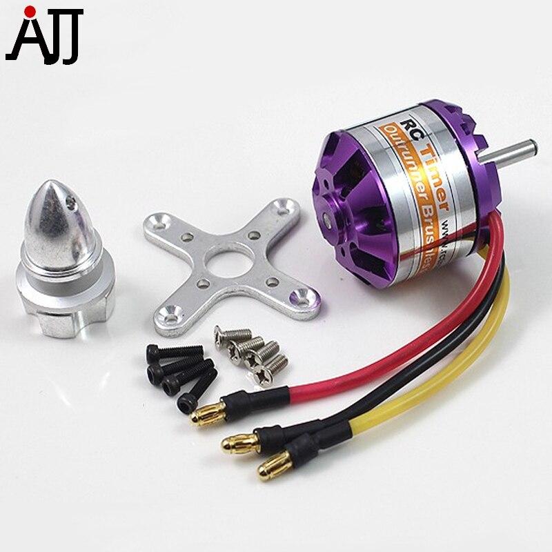 Rctimer A3536 3536 910KV 1000KV 1250KV 1450KV Outrunner Motor sin escobillas 4,0mm eje compatible 2-4 s Lipo/ 40A ESC FPV Multirotor