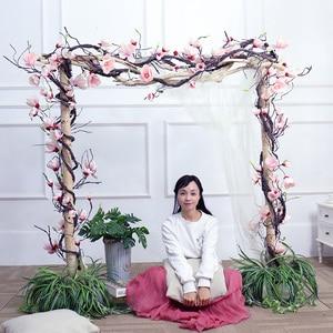 Image 3 - Свадебное украшение из магнолии, цветочный настенный венок с искусственными листьями, гирлянда