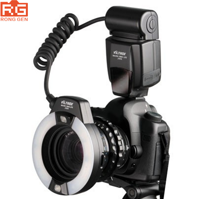 Professional Macro Ring Flash Light Lite Viltrox JY-670 for Canon Nikon Olympus Pentax Samsung wansen w48 4w 480lm 48 led makro macro ring lighting flash for canon nikon