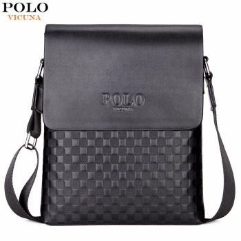 Classic Plaid Design Business Man Bag Vintage Brand Mens Messenger Bag Casual Grid Shoulder Bag For Male