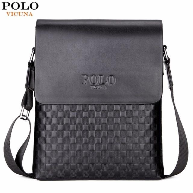 Classic Plaid Design Business Man Bag Vintage Brand Mens Messenger Bag Casual Grid Shoulder Bag For Male