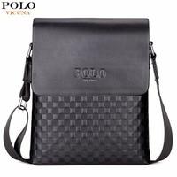 VICUNA POLO Classic Plaid Design Business Man Bag Vintage Brand Mens Messenger Bag Casual Grid Shoulder