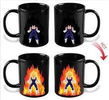 Dragon Ball Z Vegeta Kaffeetasse Tasse Wärmeempfindlichen Farbwechsel Tee Milch Copo Keramik Temperatur Sensing Geburtstagsgeschenk