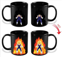 Dragon Ball Z Vegeta Coffee Mug Mark Heat Sensitive Color Changing Tea Milk Copo Ceramic