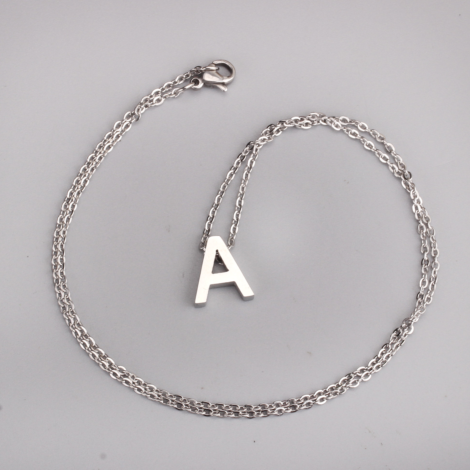 pendant necklace personalized buy stainless gold product com initial steel jewelry aliexpress choker custom letter name store from silver fashion