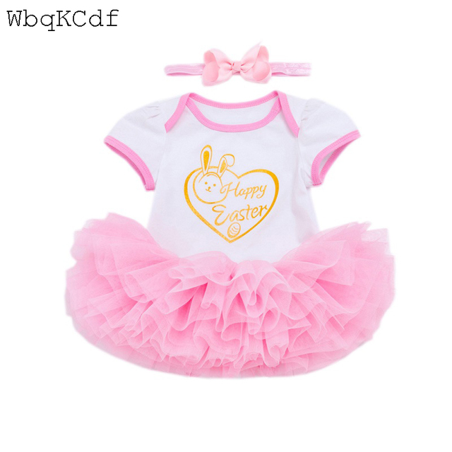 d2bbc9ae6 My First Easter Baby Rompers Summer Newborn Baby Costumes Sets Girls Infant  St. Patrick Dress Suits Baby 1st Birthday Outfits